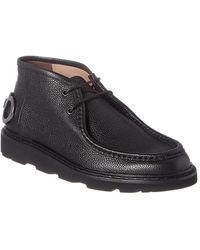 Ferragamo Terry Gancini Leather Desert Boot - Black