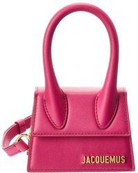 Jacquemus Le Chiquito Mini Leather Clutch - Pink