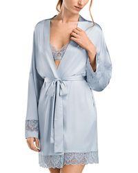 Hanro Luna Kimono Robe - Blue
