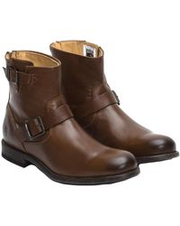 Frye Men's Tyler Leather Engineer Boot - Brown