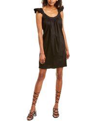 Emerson Fry Linen-blend Shift Dress - Black