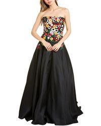 Carolina Herrera Embellished Silk Gown - Black