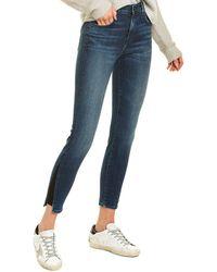J Brand Alana Dark Torrent High-rise Crop Skinny Leg Jean - Blue