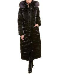 Badgley Mischka Maxi Puffer Coat - Black