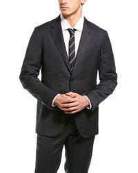 Ermenegildo Zegna 2pc Wool Suit With Flat Front Pant - Gray