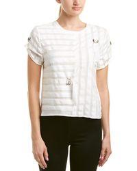 Nicole Miller Artelier Silk Top - White
