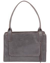 Hobo Splendor Leather Shoulder Bag - Gray