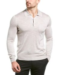 Dunhill Silk Polo Shirt - White