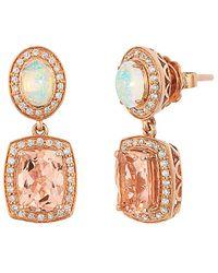 Le Vian 14k Rose Gold 2.95 Ct. Tw. Diamond & Gemstone Earrings - Metallic