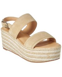 Joie Galicia Suede Wedge Sandal - Brown