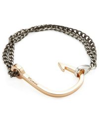 Miansai - Polished Hook On Chain Station Bracelet - Lyst