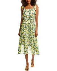 Sam Edelman Lemon Smocked Midi Dress - Green