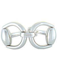Gucci Horsebit Rhodium-plated Sterling Silver Bracelet - Metallic