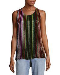 Balmain Silk Sleeveless Top - Multicolor