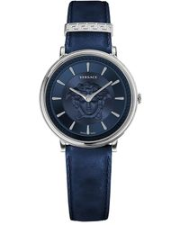 Versace V-circle Medusa Watch - Blue