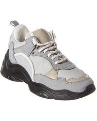 IRO Curve Runner Leather-trim Sneaker - Gray