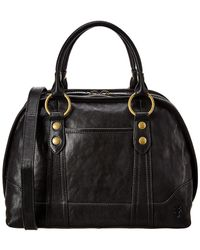 Frye Lucy Domed Leather Satchel - Black