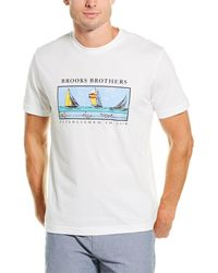 Brooks Brothers 1818 Boats T-shirt - White