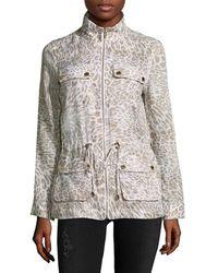 Calvin Klein Printed Linen Jacket - Multicolour