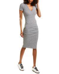 Monrow Ruched Sheath Dress - Gray