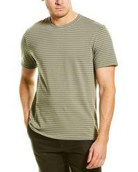 Vince Garment Dyed Stripe T-shirt - Green