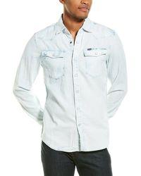 G-Star RAW Raw 3301 Seasonal Destroy Slim Woven Shirt - Blue