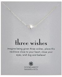 Dogeared - Three Wishes Silver Necklace - Lyst