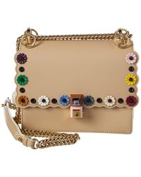 Fendi Kan I Mini Leather Chain Shoulder Bag - Multicolour