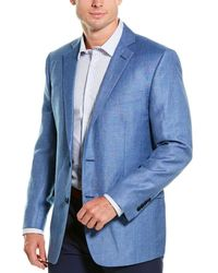 Brooks Brothers Regent Fit Linen & Wool-blend Sportscoat - Blue