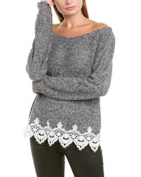 The Kooples Lace-trim Jumper - Grey