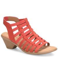 Comfortiva - Fran Leather Heeled Sandal - Lyst