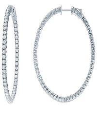 Diana M. Jewels . Fine Jewelry 18k 2.50 Ct. Tw. Diamond Hoops - Multicolor