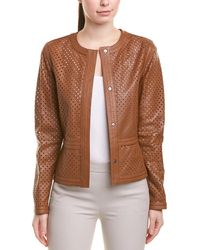 ESCADA Leather Jacket - Brown