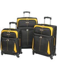 Geoffrey Beene Golden Gate Collection 3pc Luggage Set - Black