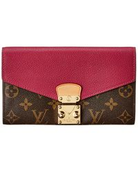 Louis Vuitton Monogram Canvas Pallas Wallet - Red