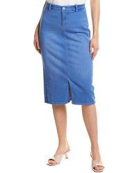 NYDJ Braided Belt Loop Skirt - Blue