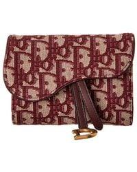 Dior Dior Saddle Oblique Canvas French Wallet - Natural