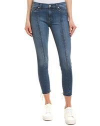 Hudson Jeans - Nico Unfamed Super Skinny Crop - Lyst