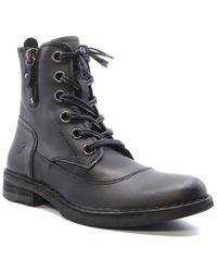 Fly London Heritage Leather Boot - Black