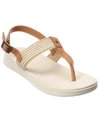 Sperry Top-Sider Adriatic Leather-trim Thong Sandal - Brown