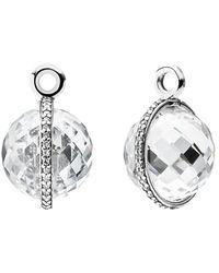 PANDORA - Midnight Star Silver Cz Earring Charms - Lyst