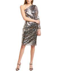 Adrianna Papell Sheath Midi Dress - Gray
