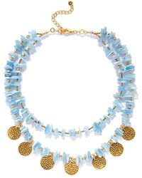 Roberta Roller Rabbit - Barbose Stone Coin Necklace - Lyst