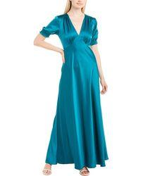 Diane von Furstenberg Avianna Soft Satin Gown - Blue