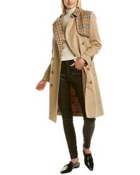 Burberry Vintage Check Trench Coat - Brown