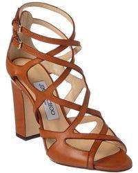 Jimmy Choo Dillan 100 Vachetta Leather Sandal - Brown
