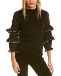 Gracia Tiered Ruffle Top - Black