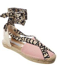 Stella McCartney Gaia Logo Strap Canvas Espadrille - Pink