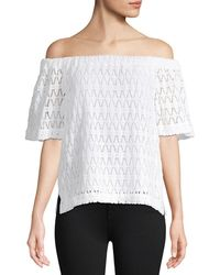 A.L.C. Cheyenne Off-the-shoulder Lace Top - White