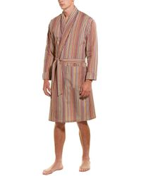Paul Smith Signature Stripe Dressing Gown - Red